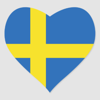 Sweden Flag Heart Sticker