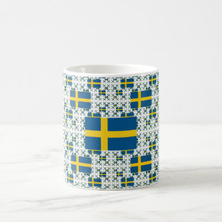 Sweden Flag in Multiple Layers Coffee Mug