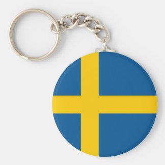 Sweden Flag Key Ring