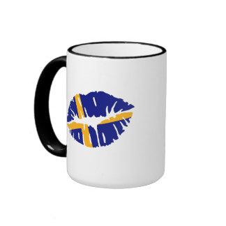 Sweden flag kiss coffee mug