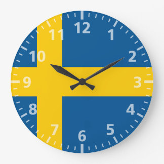 Sweden Flag Large Clock