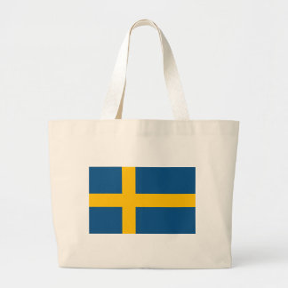 Sweden Flag Large Tote Bag