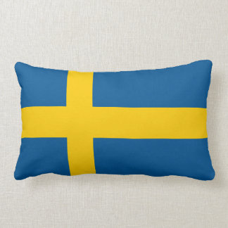 Sweden Flag Lumbar Cushion