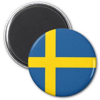 Sweden flag 6 cm round magnet