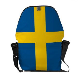 Sweden Flag Messenger Bags
