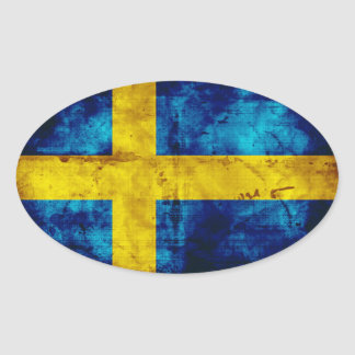 Sweden Flag Oval Sticker