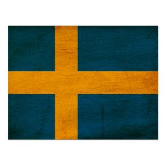 Sweden Flag Postcard