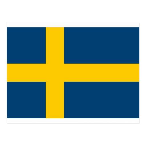 Sweden Flag Postcards