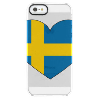 Sweden Flag Simple Clear iPhone SE/5/5s Case