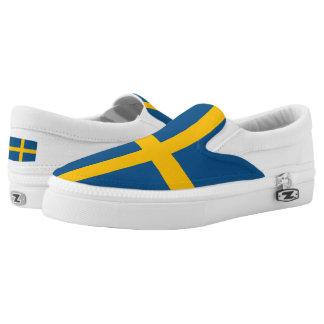 Sweden Flag Slip On Shoes