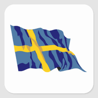 Sweden Flag Square Sticker