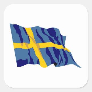Sweden Flag Square Sticker