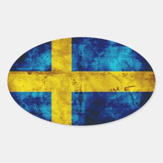 Sweden Flag Oval Sticker
