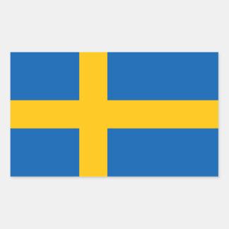 Sweden flag rectangular sticker