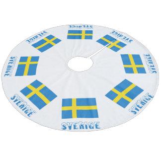 Sweden Flag & Sverige Fleece Tree Skirt