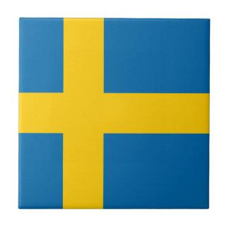 Sweden flag small square tile