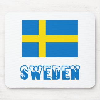 Sweden Flag & Word Mouse Mat