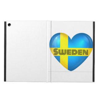 Sweden Heart Flag iPad Portfolio iPad Air Cover