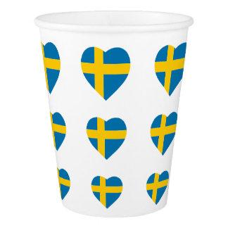 SWEDEN HEART SHAPE FLAG