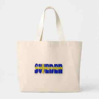 Sweden in Flag Lettering Jumbo Tote Bag
