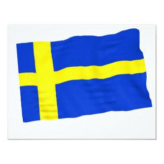 sweden 4.25x5.5 paper invitation card