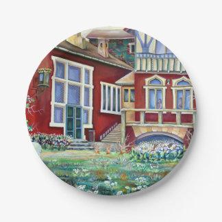 Sweden - landscape paper plate
