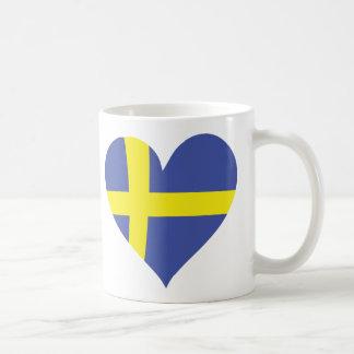 sweden love heart - swedish flag coffee mug