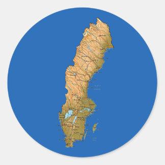 Sweden Map Sticker