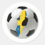 Sweden national team classic round sticker