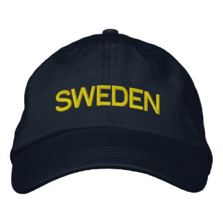 Sweden* Navy Blue Hat Embroidered Cap