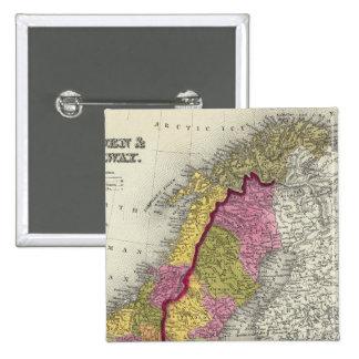 Sweden & Norway 15 Cm Square Badge