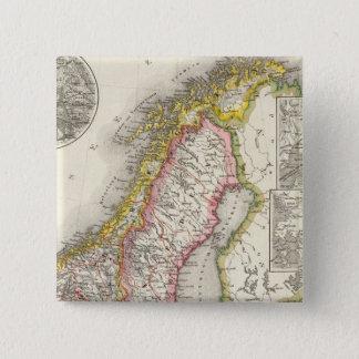 Sweden, Norway 2 15 Cm Square Badge