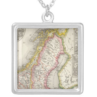 Sweden, Norway 2 Silver Plated Necklace