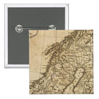 Sweden, Norway 3 15 Cm Square Badge