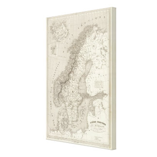 Sweden, Norway, and Denmark 2 Canvas Print
