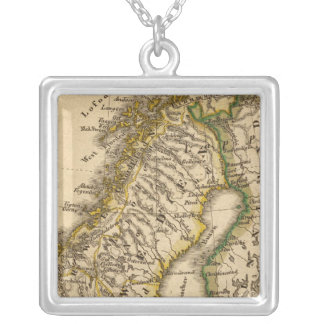 Sweden, Norway, and Finland Silver Plated Necklace