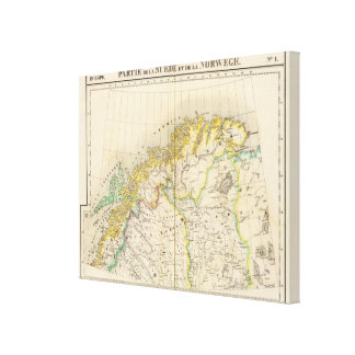 Sweden, Norway Atlas Map Canvas Print