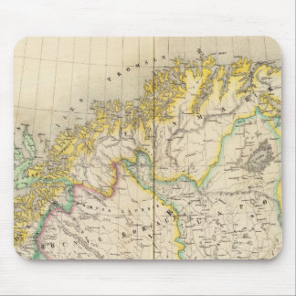 Sweden, Norway Atlas Map Mouse Mat