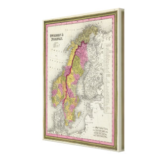 Sweden & Norway Canvas Print