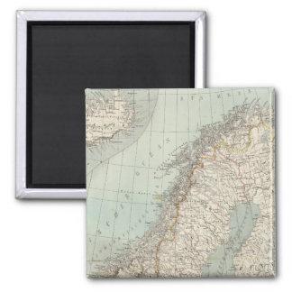 Sweden, Norway, Denmark 2 Square Magnet