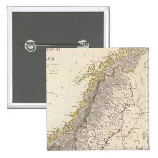 Sweden, Norway, Denmark 3 15 Cm Square Badge