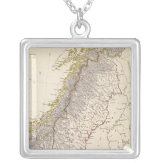 Sweden, Norway, Denmark 3 Silver Plated Necklace