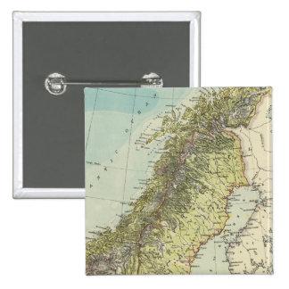 Sweden, Norway, Denmark 15 Cm Square Badge