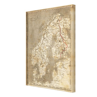 Sweden, Norway Map by Arrowsmith Canvas Print
