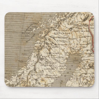 Sweden, Norway Map by Arrowsmith Mouse Mat