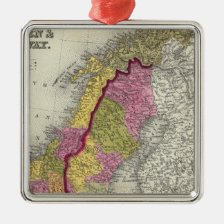 Sweden & Norway Silver-Colored Square Decoration