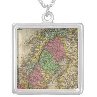 Sweden & Norway Silver Plated Necklace