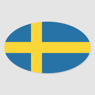 sweden oval sticker