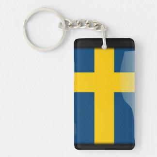Sweden polished flag key ring