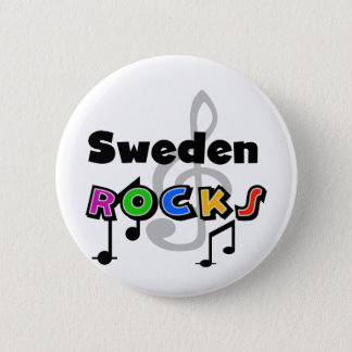 Sweden Rocks 6 Cm Round Badge